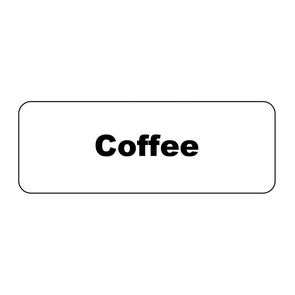"Service Ideas MT1CF ID Magnet Tag, 1.25 x 3.5"", Coffee"