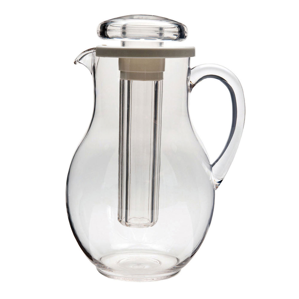 Service Ideas MWP30SB 3-liter Plastic Pitcher w/ Ice Tube