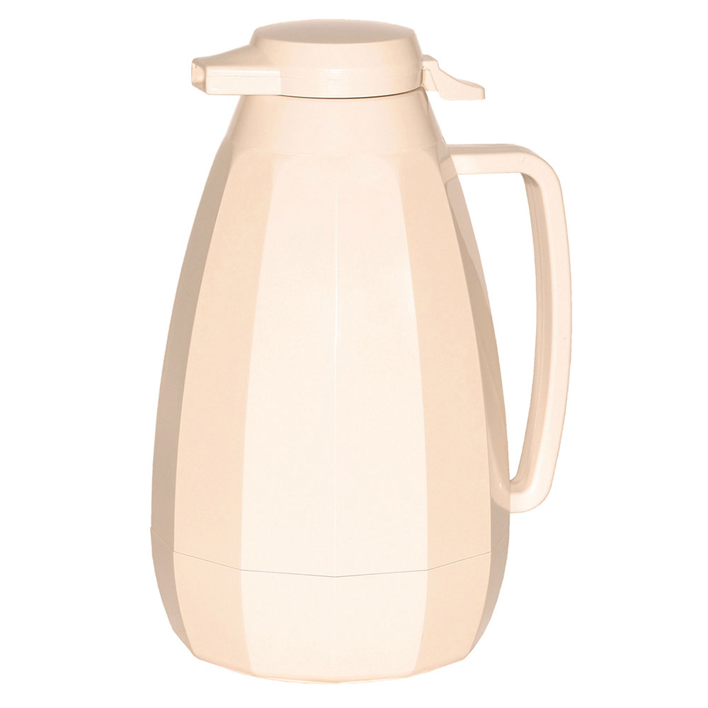 Service Ideas NG421AL 2-liter Coffee Server w/ Push Button Lid, Almond