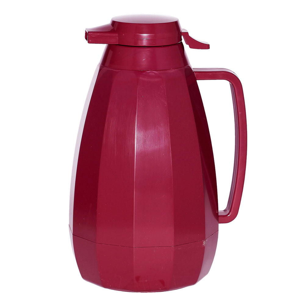 Service Ideas NG421BU 2-liter Coffee Server w/ Push Button Lid, Burgundy