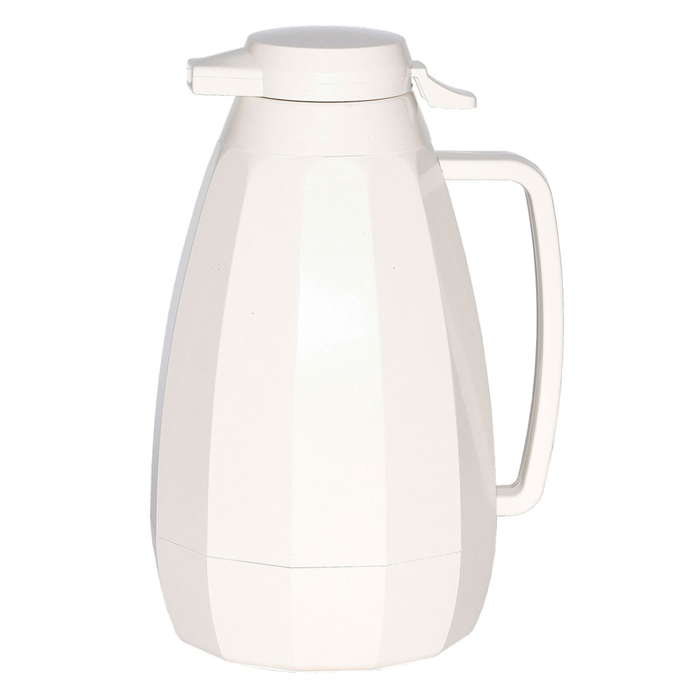 Service Ideas NG421WH 2-liter Coffee Server w/ Push Button Lid, White