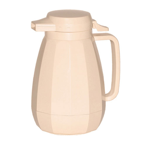 Service Ideas NG501AL .6-liter Coffee Server w/ Push Button Lid, Almond