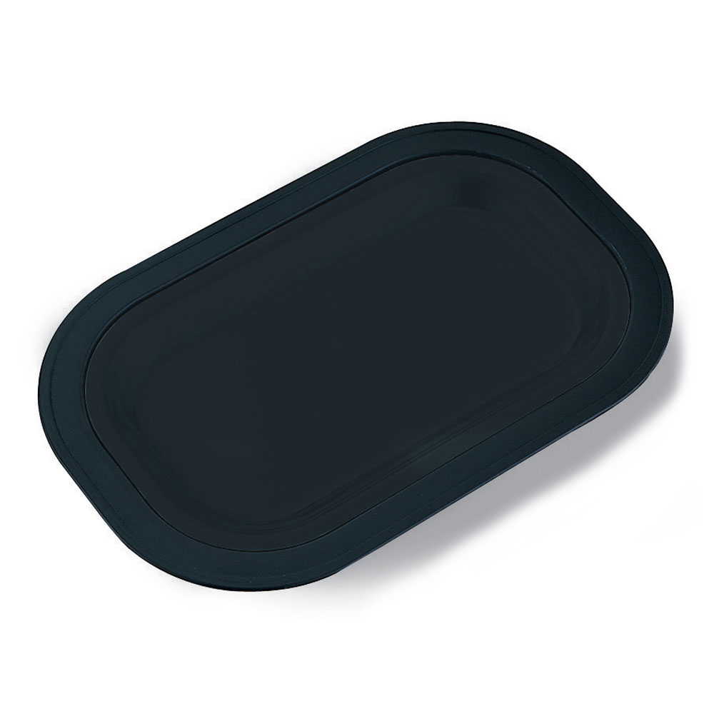 Service Ideas OT11BL Small Platter Base For OT11SS, Rectangular, Stackable, Black