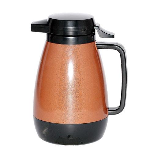 Service Ideas PB501CB .6-liter Coffee Server w/ Push-Button Lid, Copper & Black