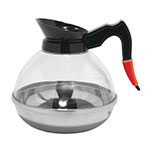 Service Ideas PCB18 60-oz Coffee Decanter, Polycarbonate, Plastic Body, Stainless Base