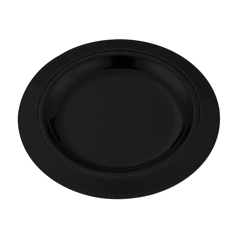 "Service Ideas RT1025BL 10.25"" Round Platter Base for RT1025SS Platters, Black"
