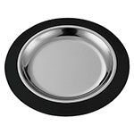 "Service Ideas RT10BLC 10"" Round Complete Platter Set w/ Stainless Insert, Black"
