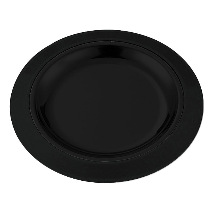 "Service Ideas RT701BL 7"" Round Platter Base for RT7SS Platters, Straight Rim, Black"