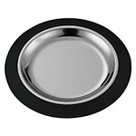 "Service Ideas RT701BLC 7"" Round Complete Platter Set w/ Stainless Insert, Straight Rim"