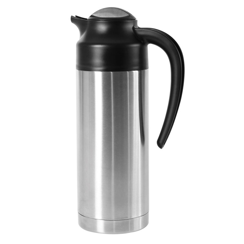 Service Ideas S2SN100 1-liter Vacuum Carafe - 6-hr Heat Retention, Stainless