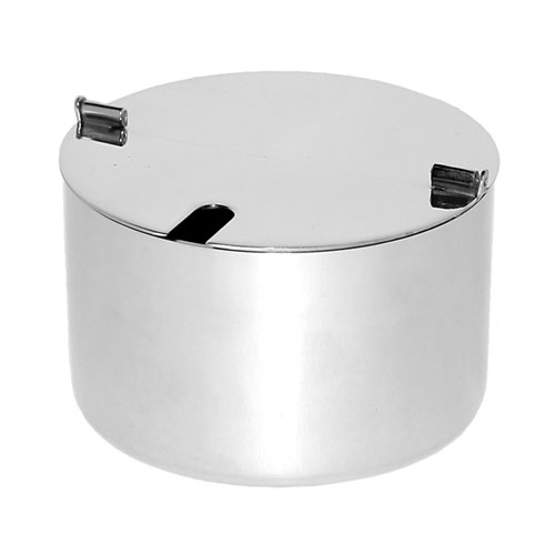 Service Ideas SB-62 17-oz Sugar Bowl, Foldable lid w/ Spoon hole, Stainless, Brushed Finish