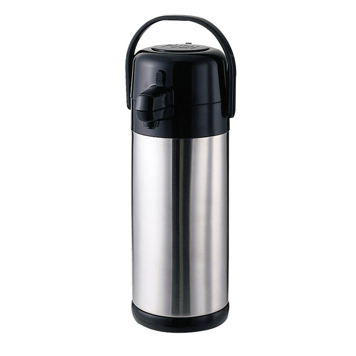Service Ideas SECA19S 1.9-liter Airpot w/ Interchangeable Pump Lid, Brushed Stainless