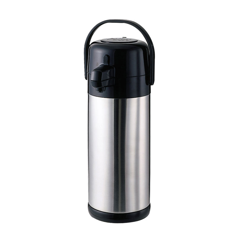 Service Ideas SECA22S 2.2-liter Airpot w/ Interchangeable Pump Lids, Brushed Stainless