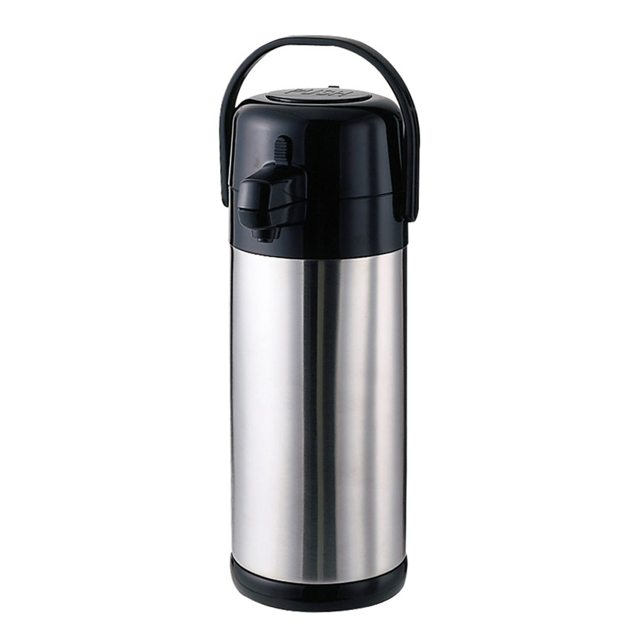 Service Ideas SECA25S 2.5-liter Airpot w/ Interchangeable Pump Lid, Brushed Stainless