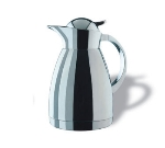 Service Ideas 0767000100 1-liter Coffee Server w/ Push-Button Lid, Stainless, 8.75-in