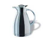 Service Ideas 0767000150 1.5-liter Coffee Server w/ Push-Button Lid, Stainless, 9.5-in