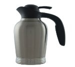 Service Ideas 10-00007-000 1-liter Vacuum Carafe w/ No Drip Lip, Stainless Insulation