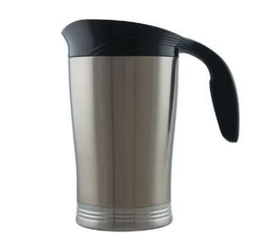 Service Ideas 10-00009-000 64-oz Vacuum Pitcher w/ No Drip Lip, Stainless Insulation