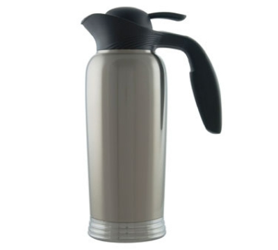 Service Ideas 10-00744-000 1-liter Creamer w/ No Drip Lip, Stainless Vacuum Insulation