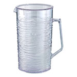 Service Ideas SI2LITCL 67.6-oz Pitcher w/ Lid, Horizontally Raised Pattern, Clear