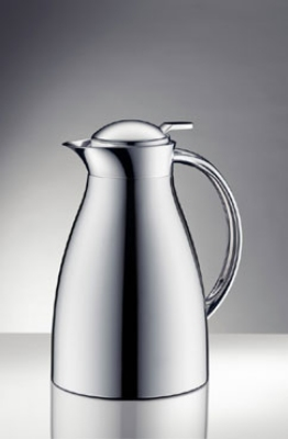 Service Ideas 3542000065 .6-liter Coffee Server w/ Push-Button Lid, Chrome Exterior