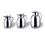 Service Ideas 5725 .5-liter Coffee Server w/ Hinged Lid, Brass, Chrome Finish