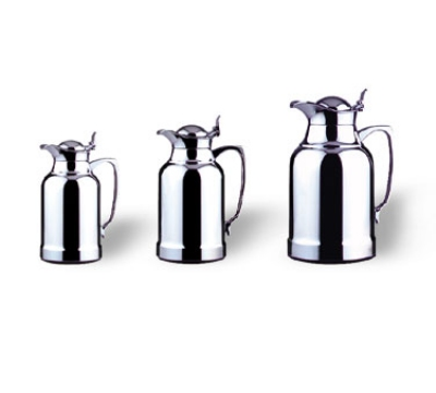 Service Ideas 6922 2-liter Coffee Server w/ Replaceable Glass Liner, Chrome Finish