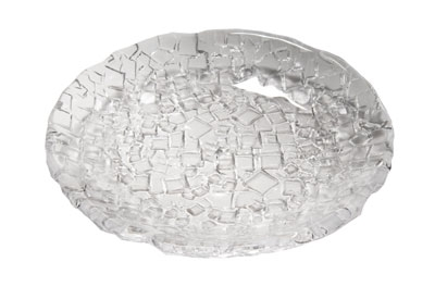 Service Ideas 7345CL 8.25-in Plate From Metropolis Collection, Clear