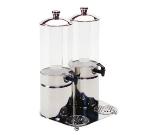Service Ideas 80702710 4-liter Double Juice Dispenser, Stainless