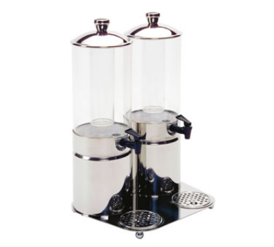Service Ideas 80702710 4-liter Double Juice Dispenser, Stainless