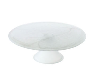 Service Ideas 8880/221WH 10.5-in Satin Cake Stand, White