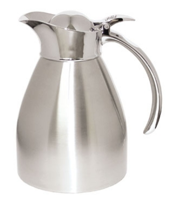 Service Ideas 98206BS .6-liter Carafe w/ Vacuum Insulation, Brushed Stainless Finish