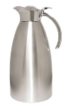 Service Ideas 98220BS 2-liter Coffee Server w/ Flip Top Stopper Lid, Brushed Stainless