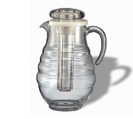 Service Ideas AWP33RB 3.3-liter Water Pitcher w/ Ribbed Surface, Clear Acrylic