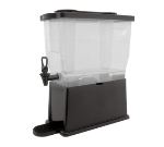 Service Ideas CBDP3BLK 3-Gallon Rectangular Beverage Dispenser w/ Infuser & Ice Tubes
