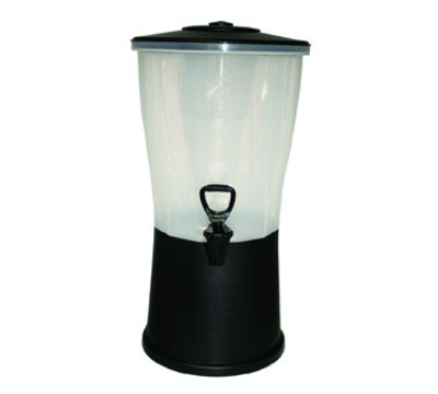 Service Ideas CBDRP3BL 3-Gallon Round Beverage Dispenser, Black Polypropylene