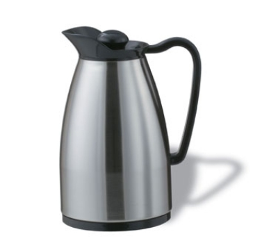 Service Ideas CGCS060SS .6-liter Carafe w/ Stainless Interior, Brushed Stainless, Black