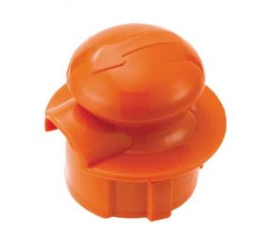 Service Ideas CGSTOPOR Stopper Lid For Classic Glass Carafe, Orange