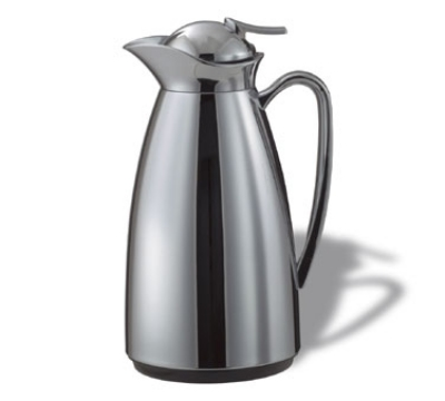 Service Ideas CJ6CH .6-liter Vacuum Carafe w/ Glass Liner, Chrome