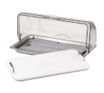 Service Ideas CLOCHE1S Refrigerated Dome w/ Plastic Cover, Stainless Base