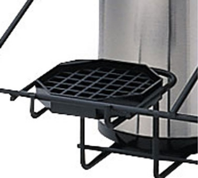 "Service Ideas DT45 4.5"" Drip Tray for APR2 & APR3 Airpot Racks, Octagon, Black"