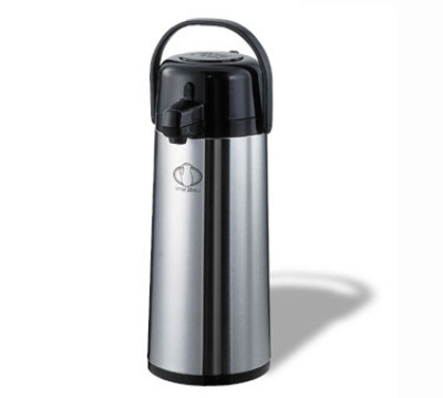 Service Ideas ECAS22S 2.4-liter Airpot w/ Pump Lid, Stainless, Black Finish