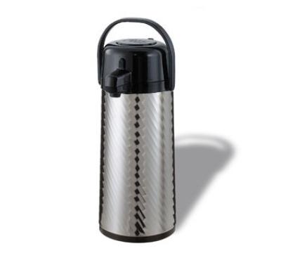 Service Ideas ECAJ22SS 2.2-liter Insulated Airpot w/ Smooth Body, Pump Style, Jewel Shell