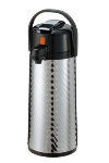 Service Ideas ECAJLS22S 2.4-liter Insulated Stainless-Lined Airpot, Lever Style, Jewel Shell