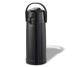 Service Ideas ECALS22PBLK 2.4-liter Airpot w/ Interchangeable Lever Lid, Black