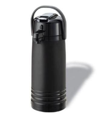 Service Ideas ECAL22PBLMAT 2.2-liter Airpot w/ Interchangeable Lever Lid, Matte Black