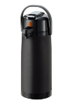 Service Ideas ECALS22PBLMAT 2.4-liter Airpot, Plastic Shell, Black, Matte Finish