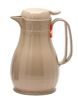 Service Ideas ECO13LA 1.3-liter Server w/ Push Button Lid, Styrenic Resin, Latte Brown