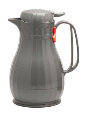 Service Ideas ECO6SLG .6-liter Server w/ Push Button Lid, Styrenic Resin, Slate Grey