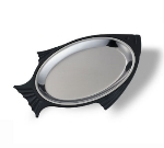 Service Ideas FP3BL Fish Platter Base Only For Model FP3SS, Large & Stackable, Black
